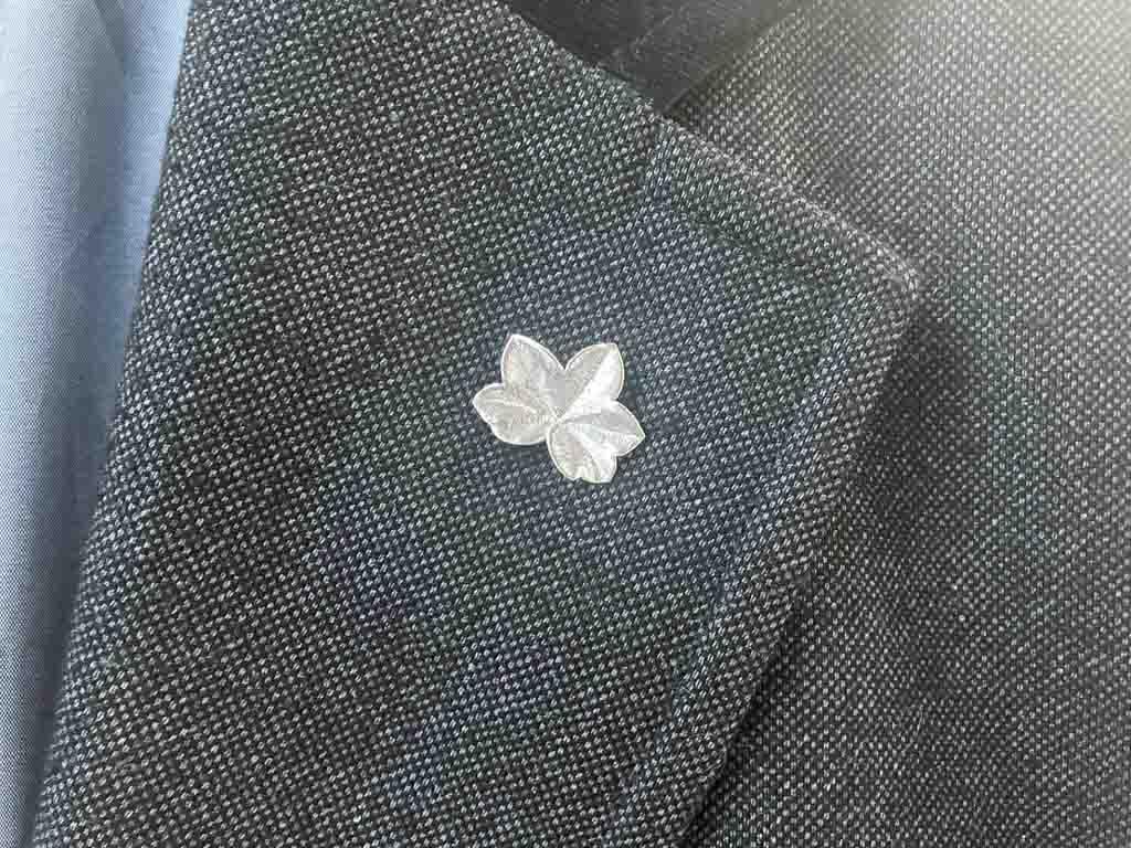GERANIUM PIN | Sterling Silver brooch
