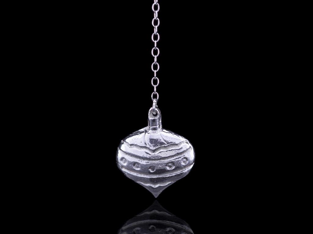 FESTIVE HEART | Bauble in solid Sterling Silver