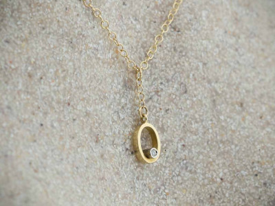 SPINNING DIAMOND | Solid 18K Gold necklace
