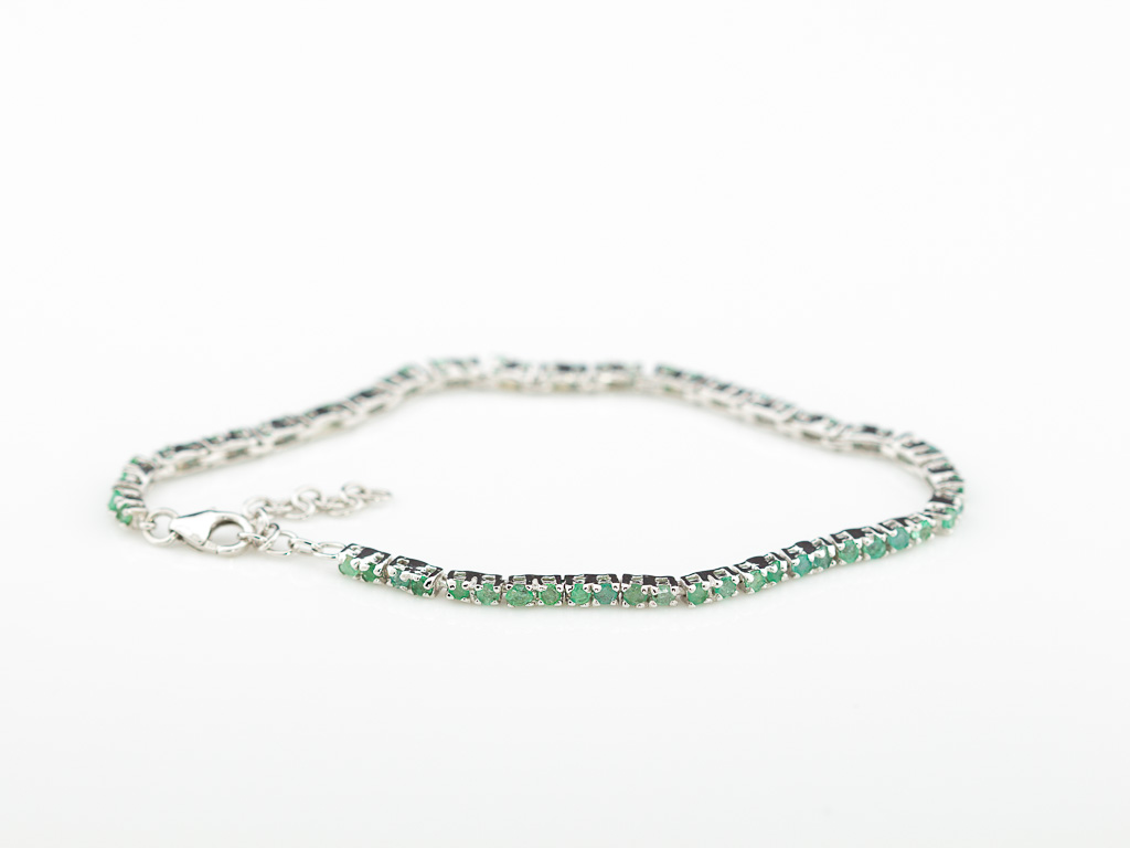 SIXTY-TWO EMERALDS | Sterling Silver tennis bracelet (sold out)