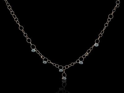 MOSS AQUAMARINE | Solid Gold necklace