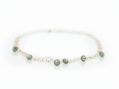 MOSS AQUAMARINE | Solid Gold necklace