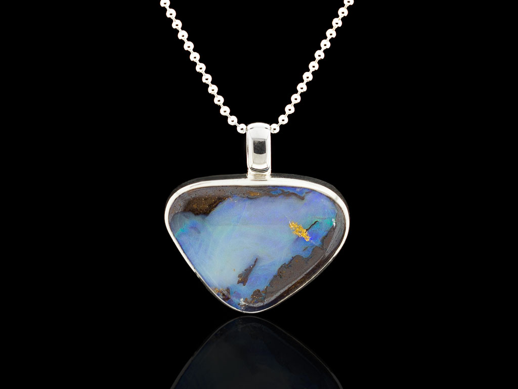 LARGER THAN LIFE | Blue Opal on Sterling Silver necklace (sold)