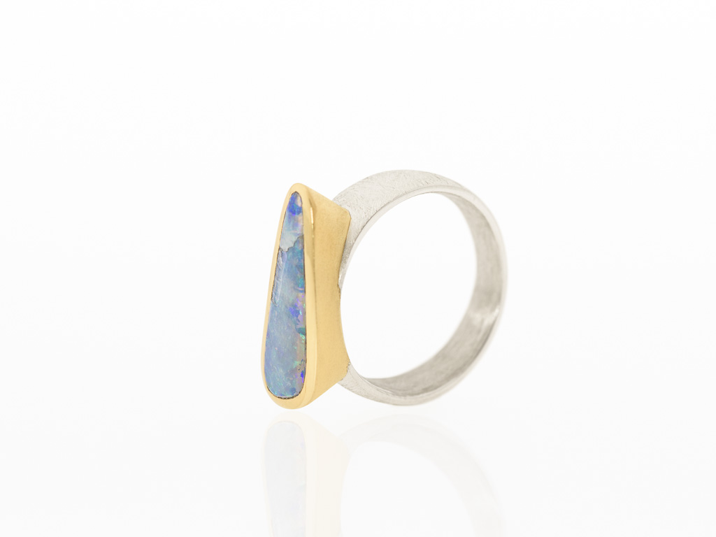 OPAL UNUSUAL | Sterling Silver ring with large Boulder Opal