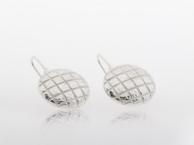 SQUARES IN A CIRCLE │ Sterling Silver or White Gold