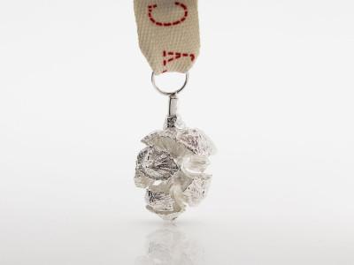 CHRISTMAS PINE CONE   Sterling Silver decorative pendant