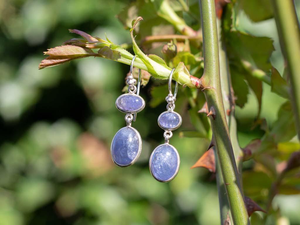 TANZANITE DUO   Earrings in Sterling Silver