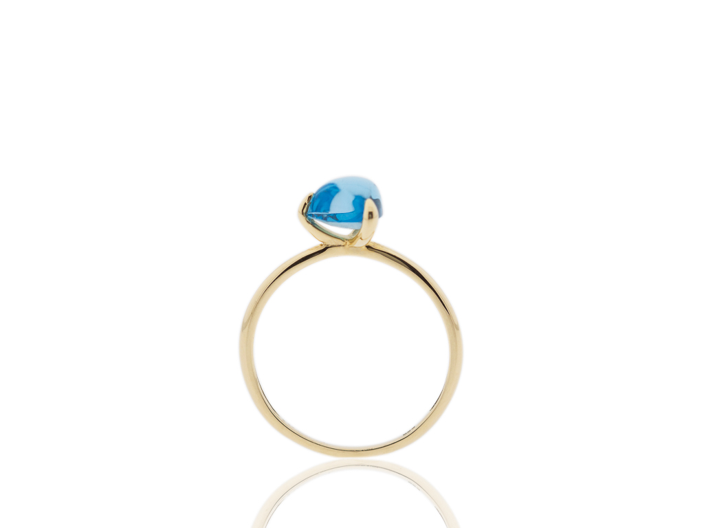 A TRILLION SWISS BLUE | Topaz ring in solid Gold