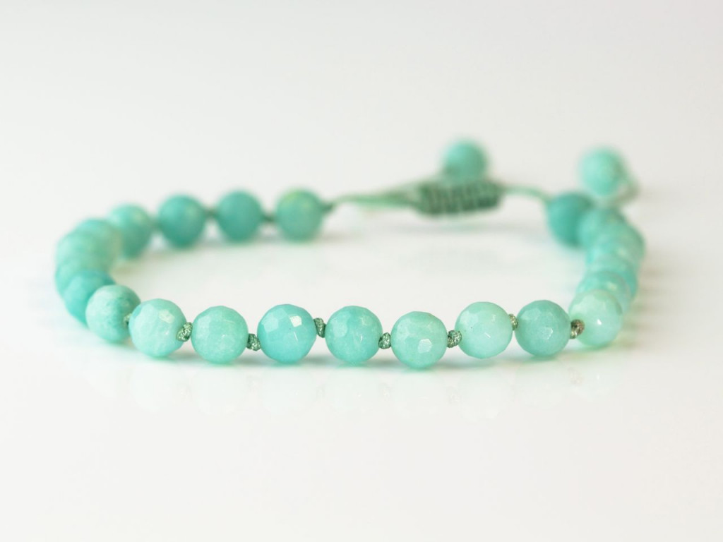 Legend of the Amazone | Bracelet with faceted Amazonite spheres (sold out)
