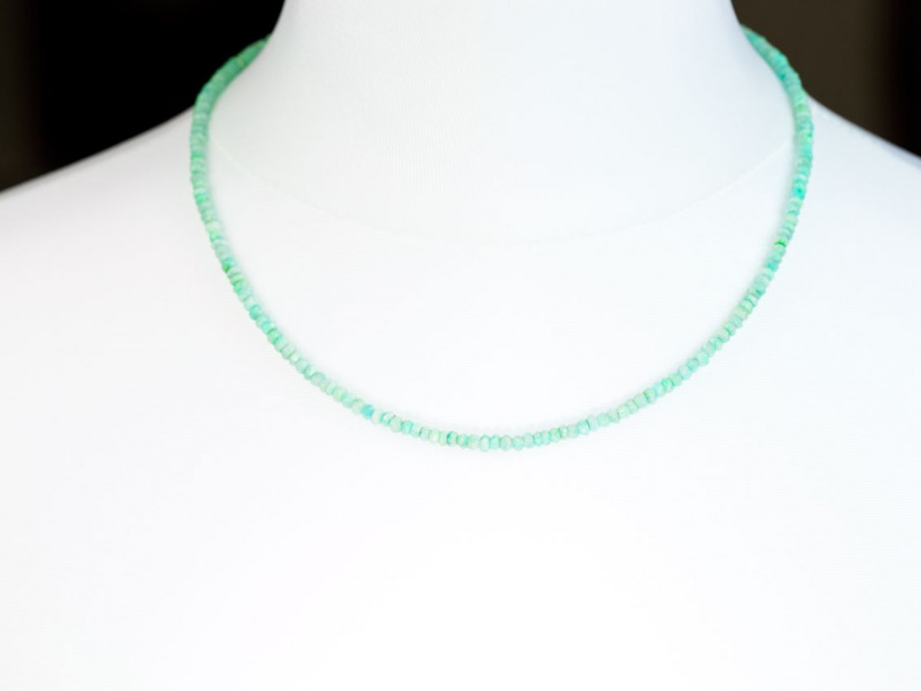 Facets of Green and Blue Amazonite | Necklace with facetted Ocean coloured semi-precious stones