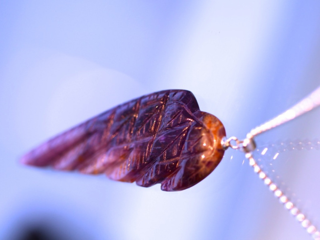 Amethyst wing necklace (sold out)