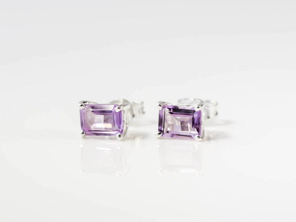 Amethyst Elegance | Sterling Silver earstuds (sold out)