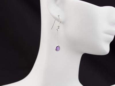 AMETHYST EXCLAMATION | Earrings in Sterling Silver (sold)
