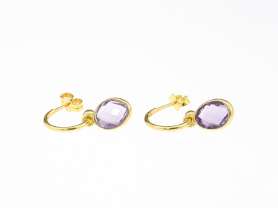AMETHYST OVALS | Earrings made of Gold vermeil (Sold Out)