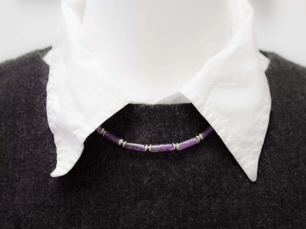 Ametista | necklace made of Amethyst and Sterling Silver (sold out)