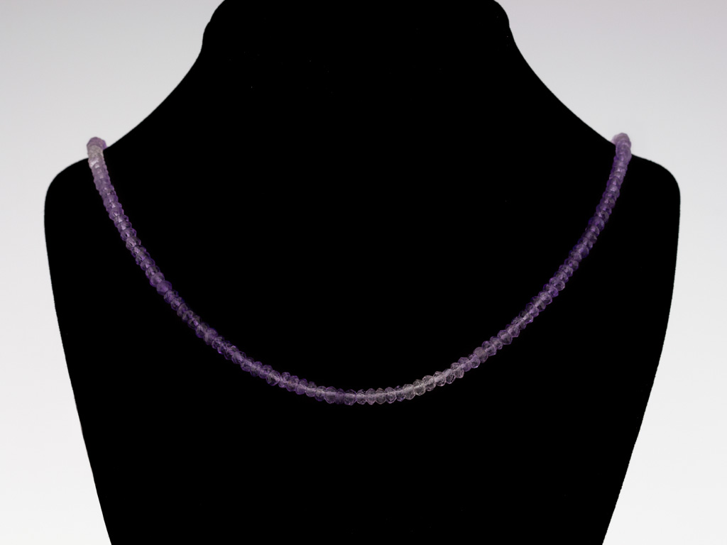 AMETHYST BIRD | Necklace with Sterling Silver sculpture (made to order)