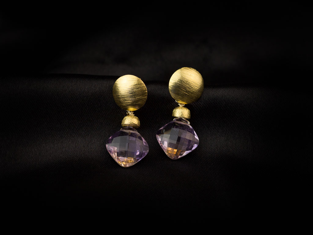 DUAL ELEGANCE | Earrings with Ametrine in Gold vermeil (Sold out)