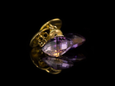 DUAL ELEGANCE | Earrings with Ametrine in Gold vermeil (Sold out)