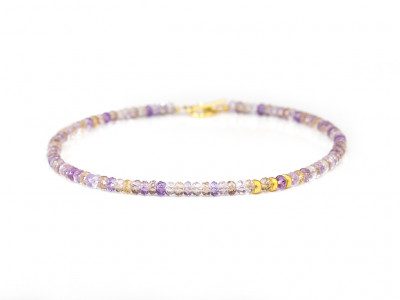 DUAL ELEGANCE | Ametrine necklace with Gold vermeil elements (sold)