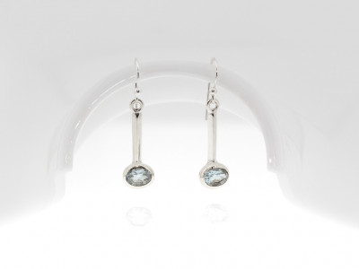AQUAMARINE EXCLAMATION | Sterling Silver earrings (sold out)