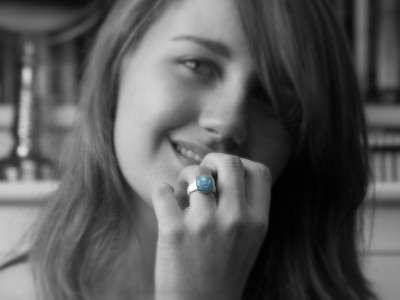 AQUA | Sterling Silver Ring with Aquamarine