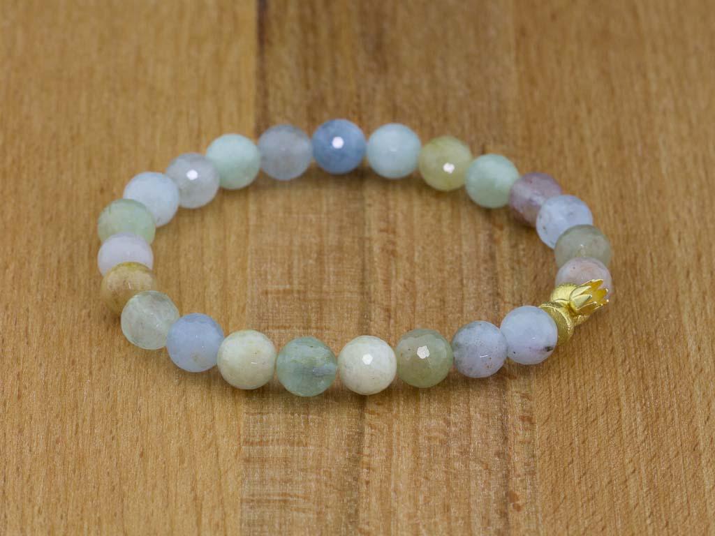AQUAMARINE BERYL FLOWER | Bracelet with Gold vermeil elements (sold out)