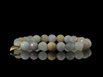 AQUAMARINE BERYL with LEAF | Bracelet with Gold vermeil elements (sold out)