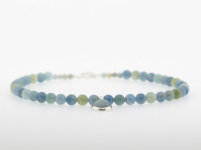 ALL OF THE OCEAN'S WATERS | Aquamarine necklace with Sterling Silver works