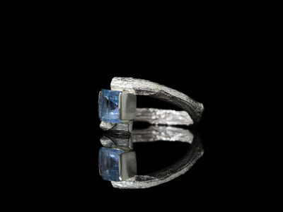 AQUAMARINE ON TWIG | Sterling Silver Ring (Sold Out)