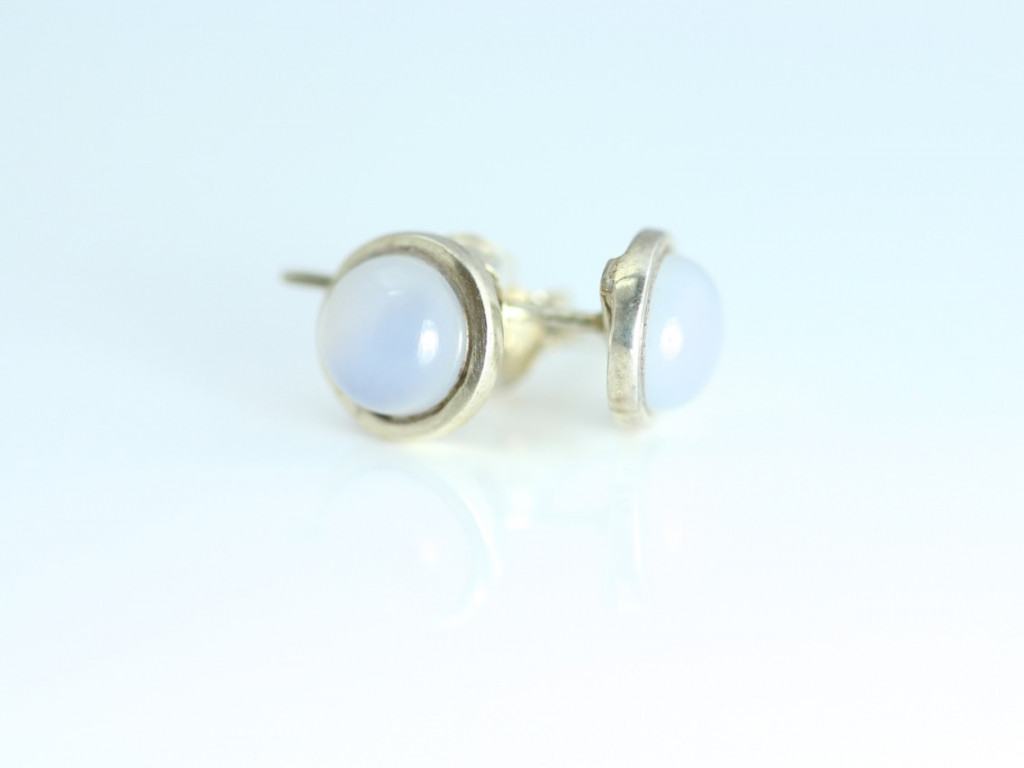 CHALCEDONY EARSTUDS | Sterling Silver (sold out)