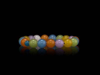 CANDY | bracelet made of genuine Chalcedony spheres (sold out)