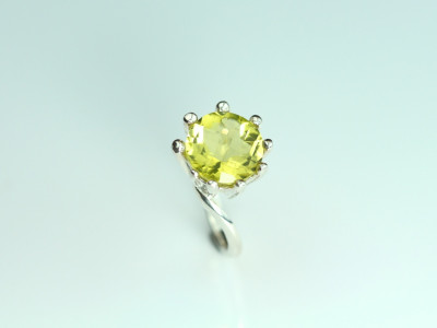 Cocktail Ring - Sterling Silver Ring with faceted Citrine (sold out)
