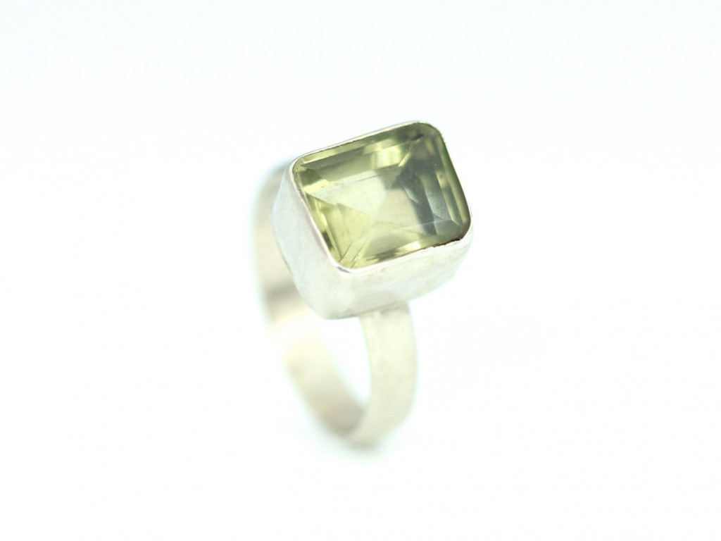 Amarelo Cubo - Citrine Sterling Silver Ring (Sold out)