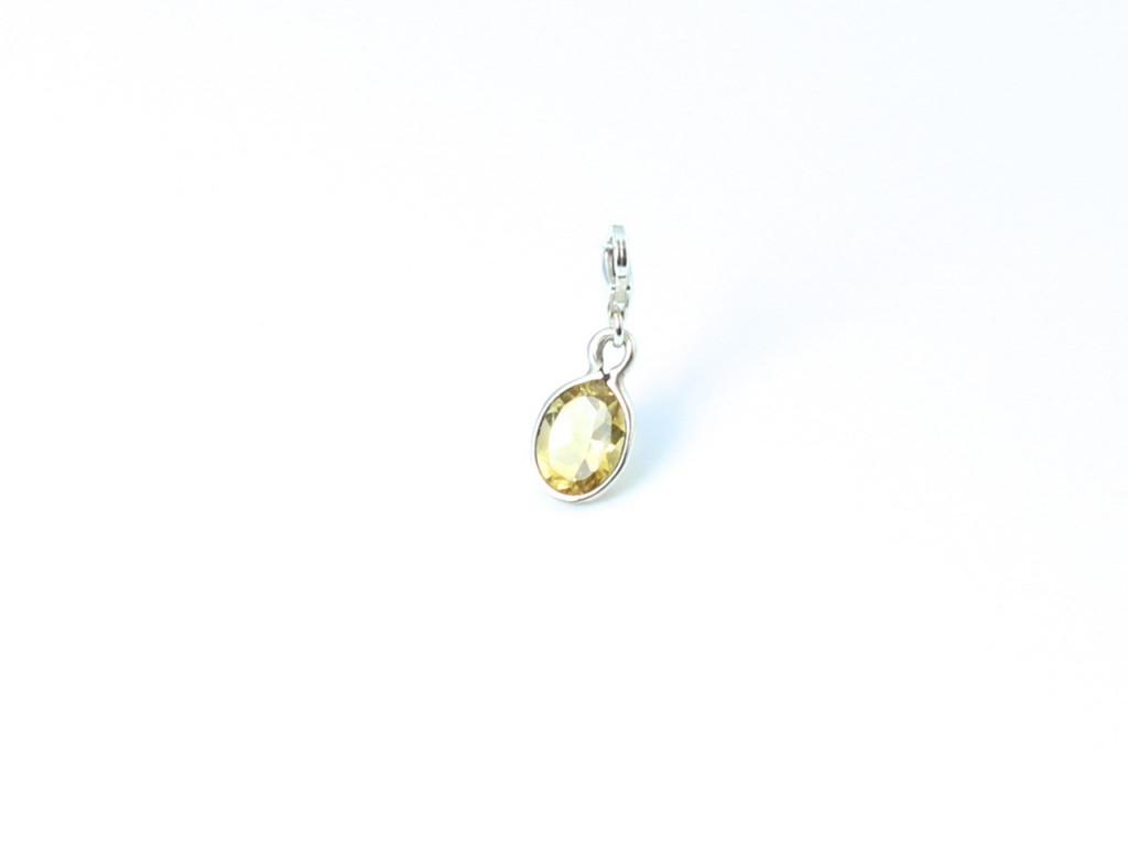 Citrine Charm - faceted oval Citrine in a Sterling Silver setting (Sold Out)