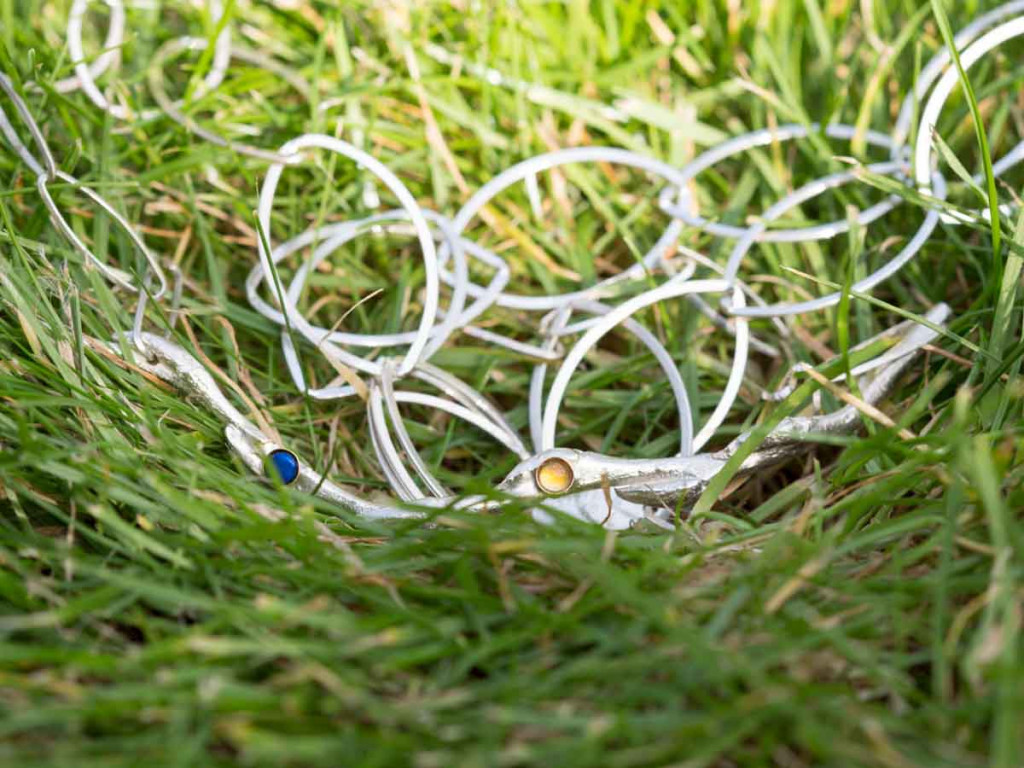 OPAL and CITRINE TWIG | Sterling Silver Necklace