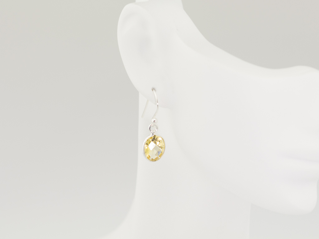 SPARKLY CITRINE   Sterling Silver earrings (Sold out)