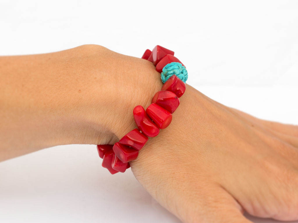 CORAL BRANCH | Bracelet with Turquoise sphere (Sold out)
