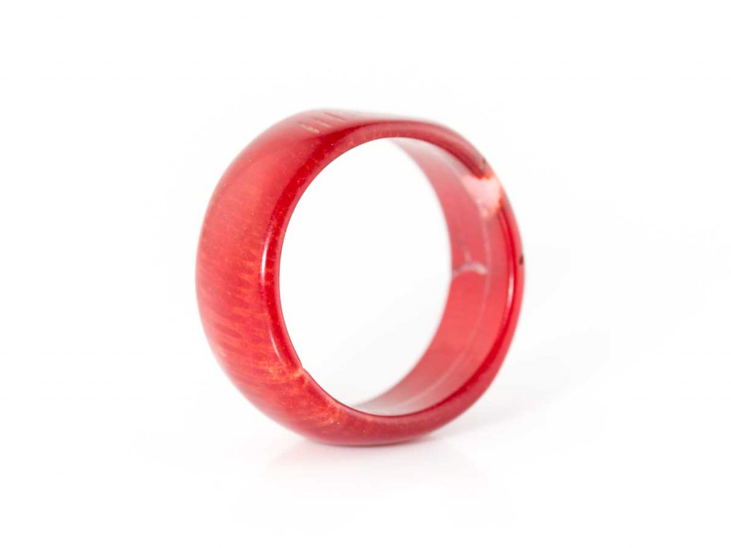 Coral Vermelho | Deep Red Precious Coral ring with natural and polished bits (sold)