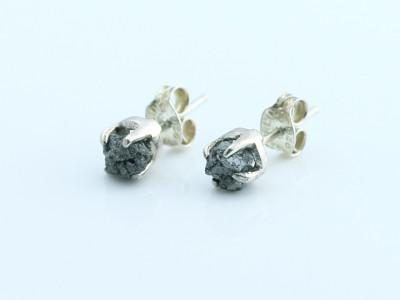 Girls Best Friend - Rough Diamond Sterling Silver ear studs (Sold out)