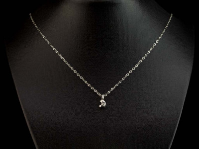 HALF MOON DIAMOND | Sterling Silver Necklace (sold out)