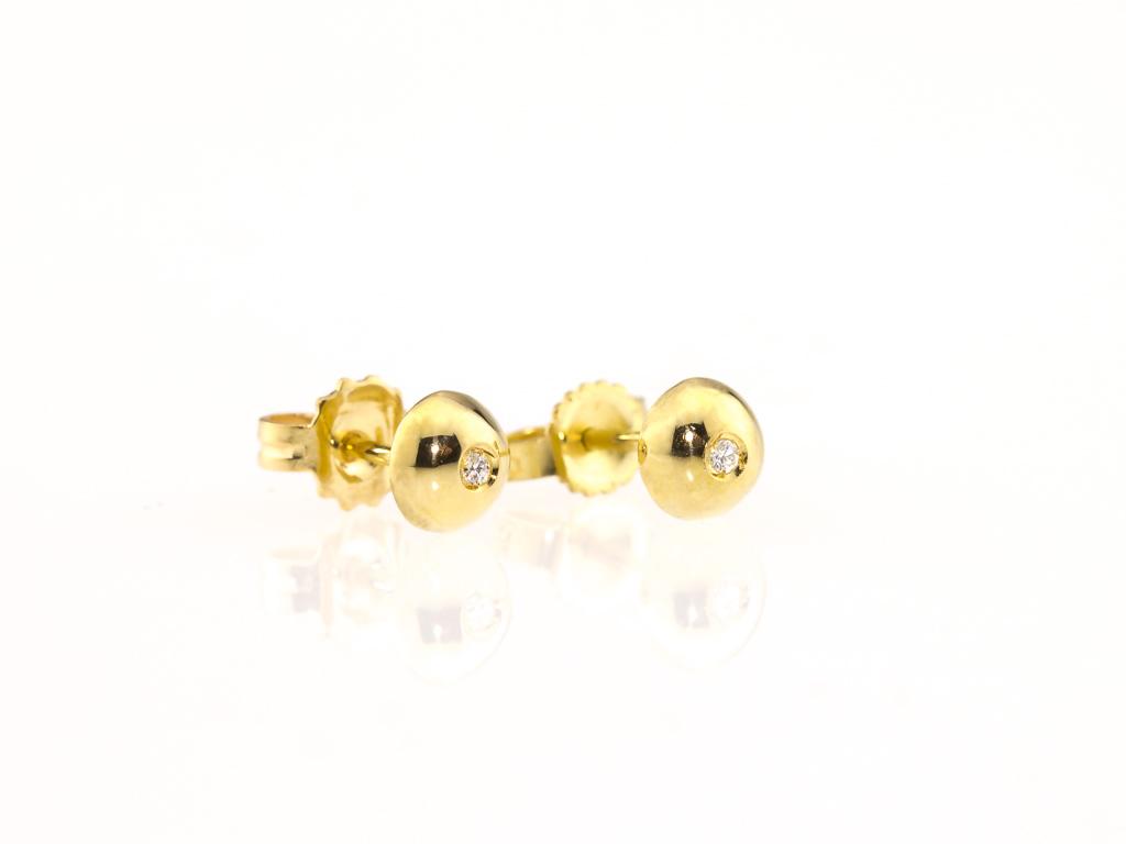 SUN STAR | 18ct Gold Diamond ear studs