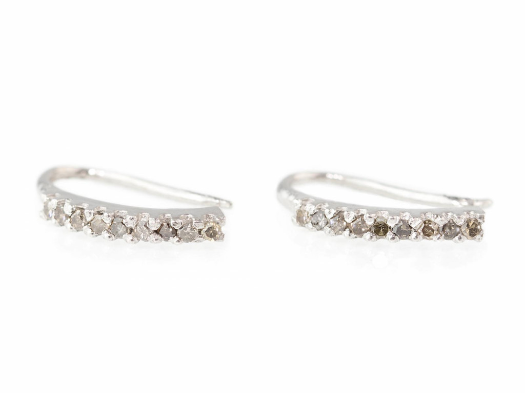 CHAMPAGNE DIAMONDS | Earrings in rhodiumplated Sterling Silver