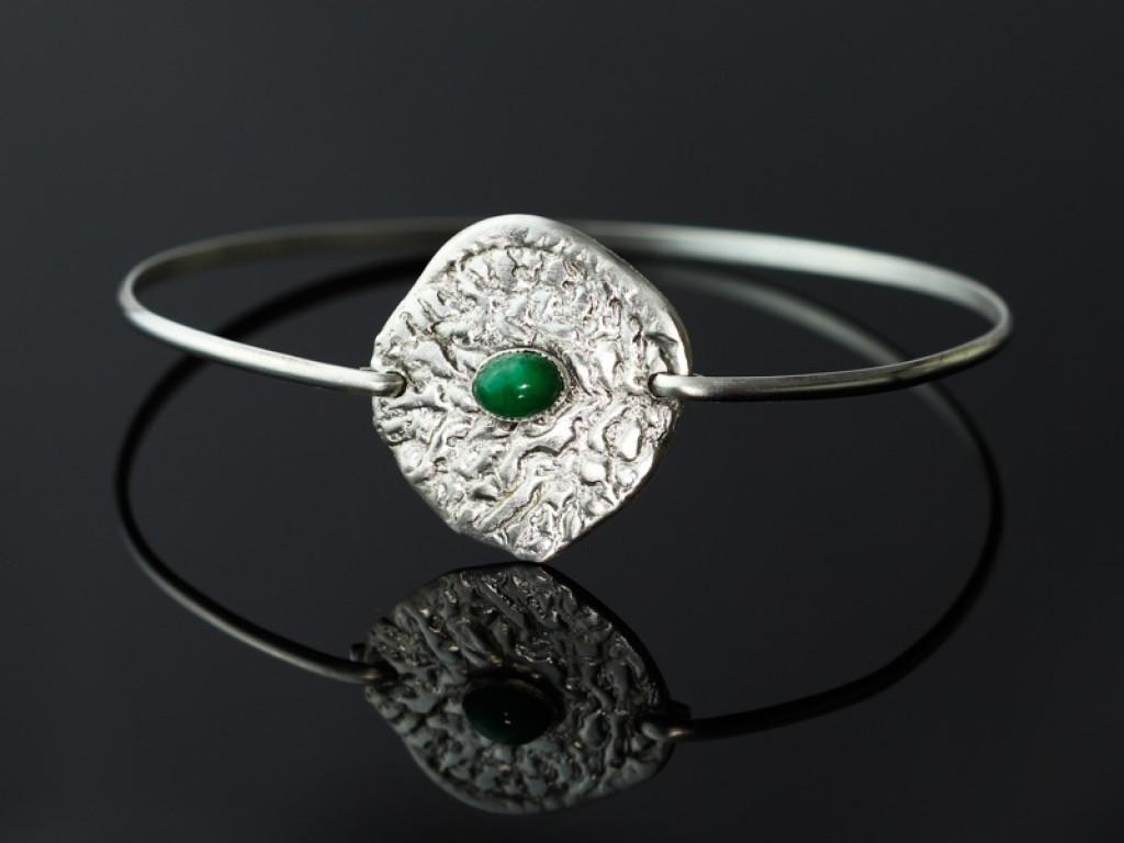 OVAL EMERALD | Sterling Silver bracelet (sold)