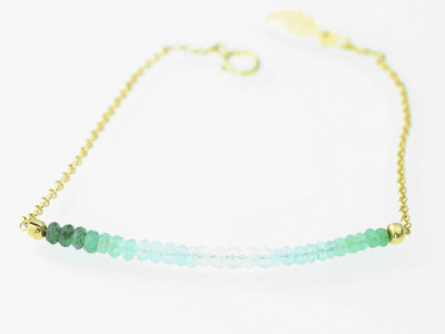 Columbian shaded Emerald golden bracelet (sold out)