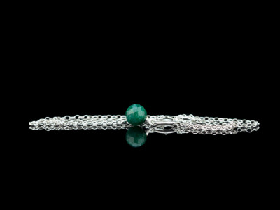 THE ZAMBIAN EMERALD   Sterling Silver necklace (Sold out)