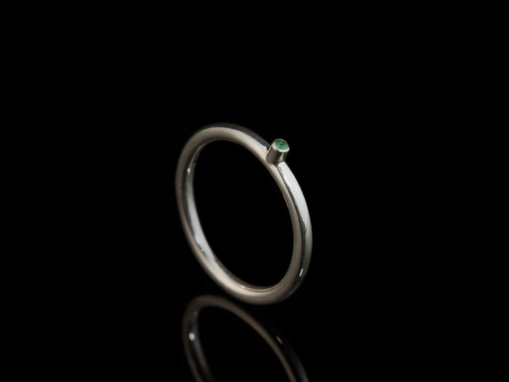 Green Dot | Sterling Silver with little Emerald (Sold out)
