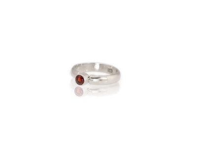 Garnet   Sterling Silver ring with an Almandine Garnet (Sold Out)