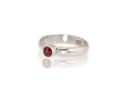 Garnet | Sterling Silver ring with an Almandine Garnet (Sold Out)