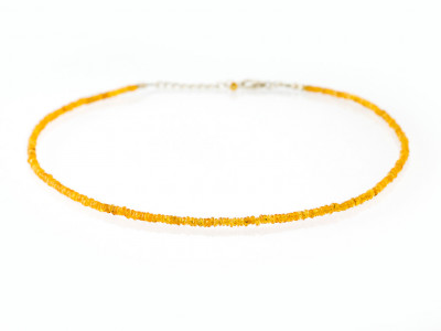 EXCLUSIVELY ORANGE | Mandarin Garnet necklace with Sterling Silver (made to order)