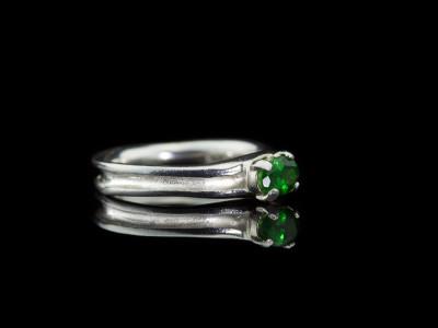 TSAVORITE INSIDE OUT | Sterling Silver ring (sold)
